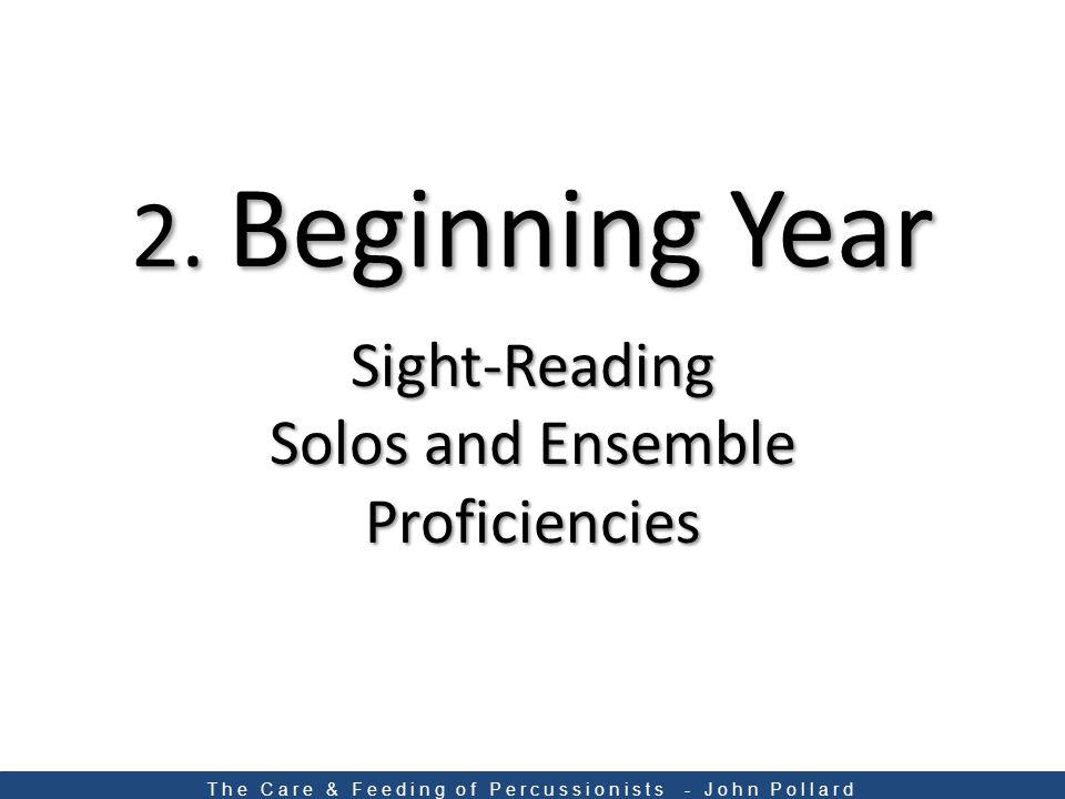 Sight-Reading Solos and Ensemble Proficiencies 2.