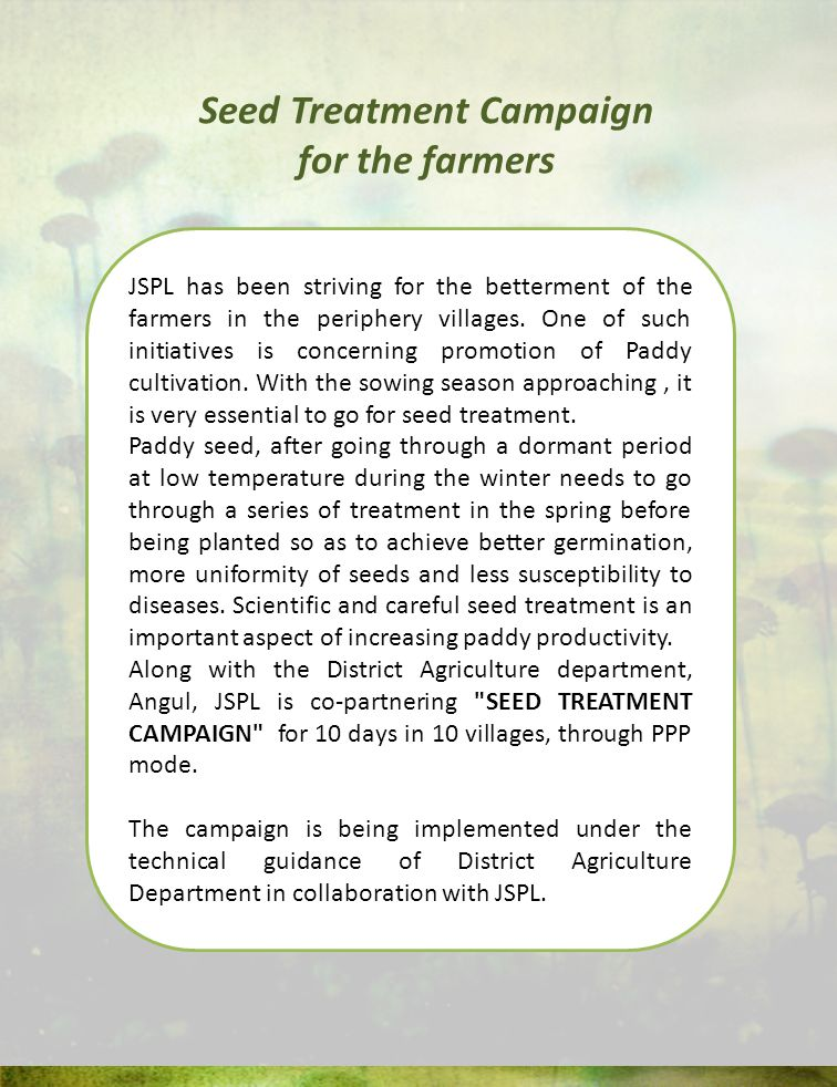 JSPL has been striving for the betterment of the farmers in the periphery villages.