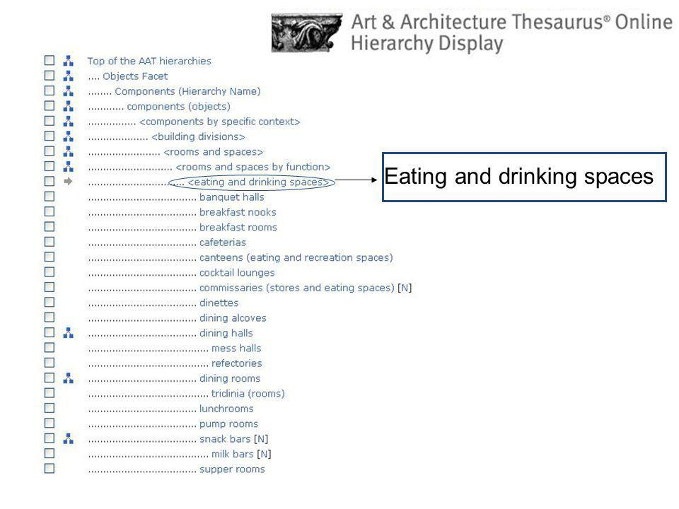 Eating and drinking spaces