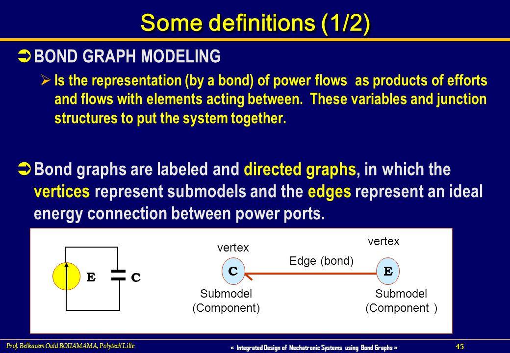 45 « Integrated Design of Mechatronic Systems using Bond Graphs » Prof. Belkacem Ould BOUAMAMA, PolytechLille Some definitions (1/2) BOND GRAPH MODELI