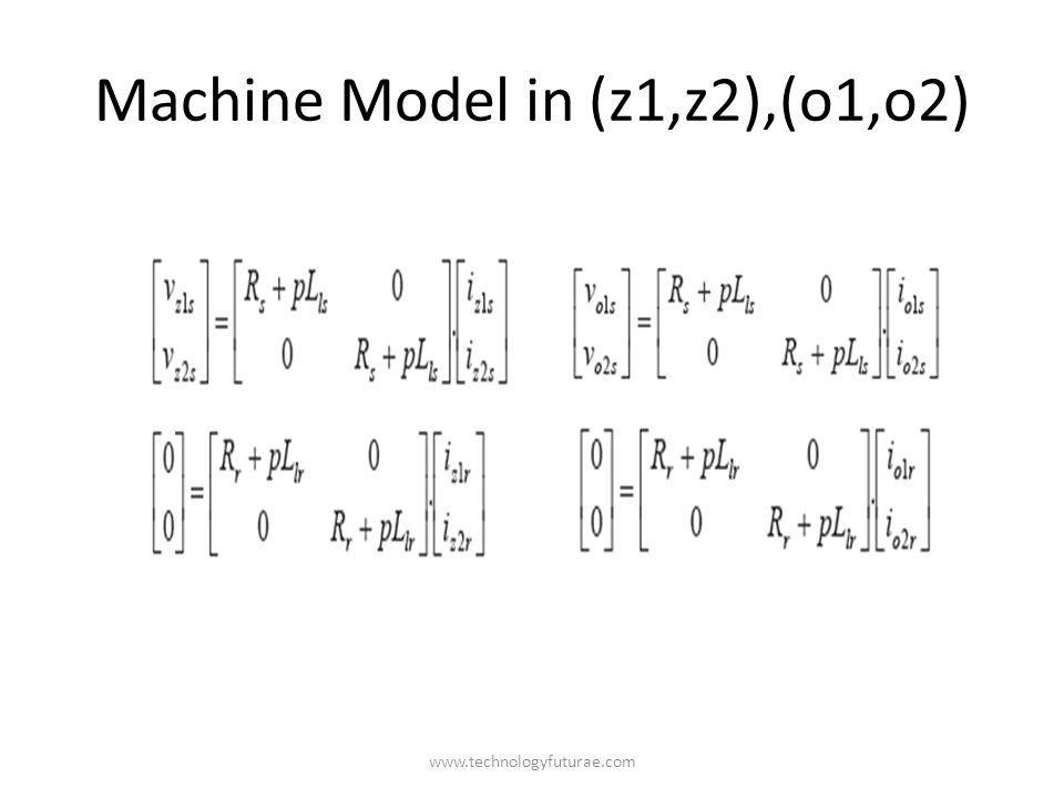 www.technologyfuturae.com Machine Model in (z1,z2),(o1,o2)
