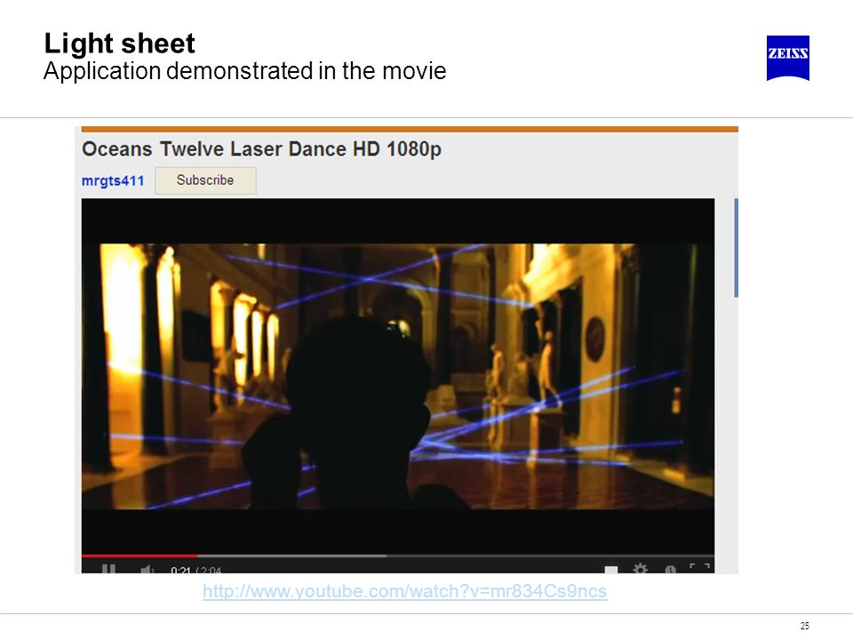 25 Light sheet Application demonstrated in the movie http://www.youtube.com/watch?v=mr834Cs9ncs