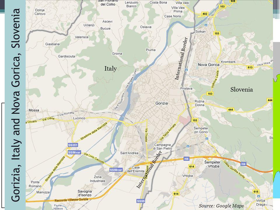 4 4 ItalySlovenia Italy Slovenia International Border Source: Google Maps