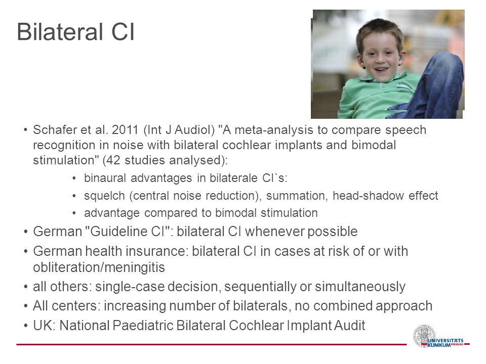Bilateral CI Schafer et al. 2011 (Int J Audiol)