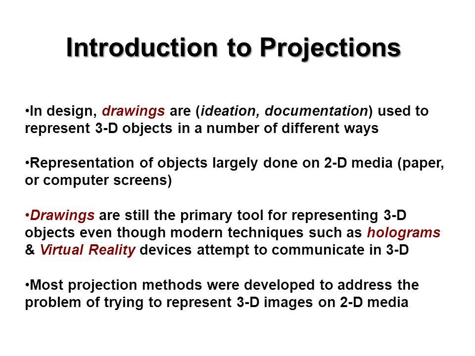Representing a 3-D Object on 2-D Medium