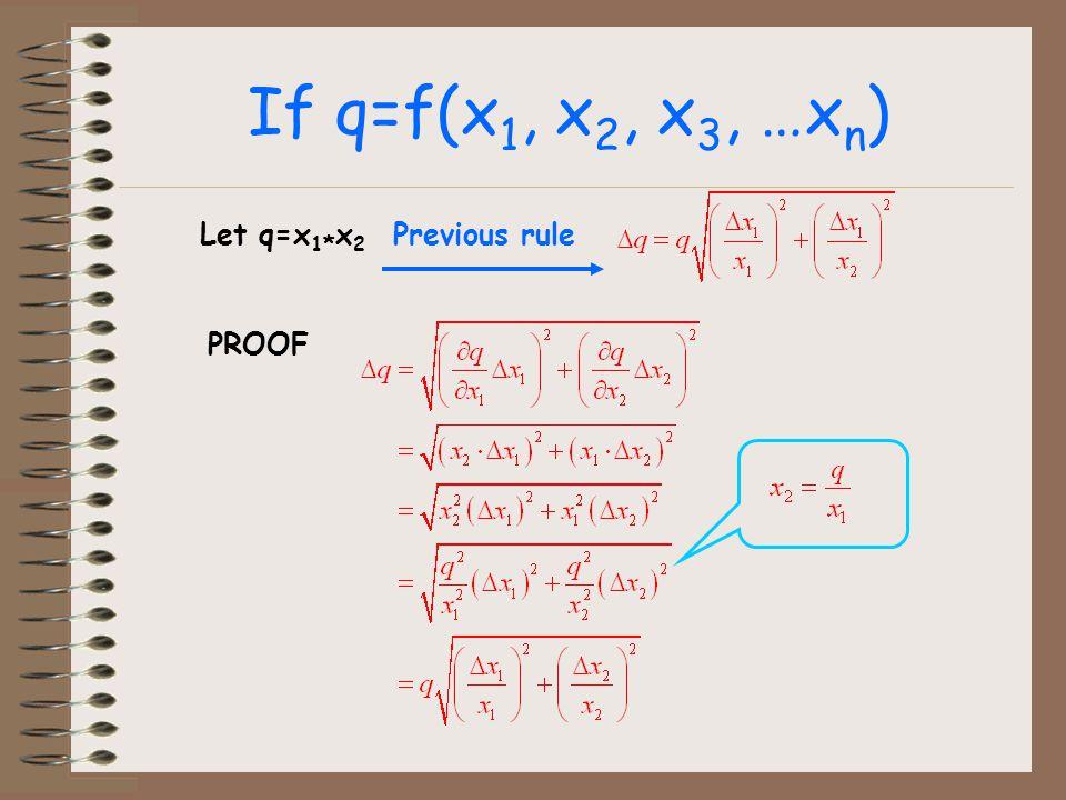 If q=f(x 1, x 2, x 3, …x n ) Let q=x 1 * x 2 Previous rule PROOF