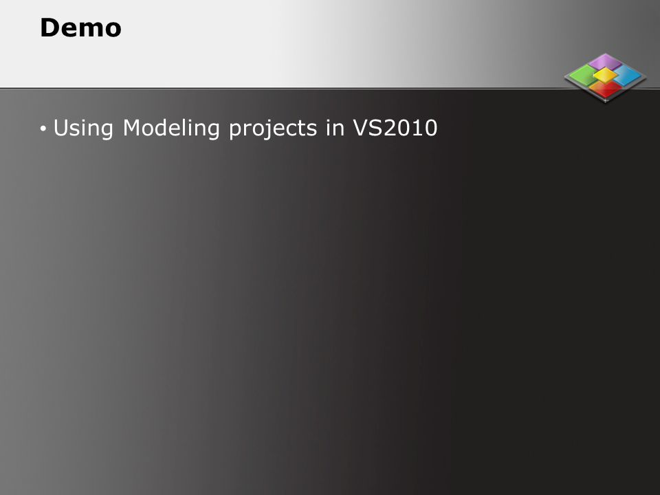 Demo Using Modeling projects in VS2010