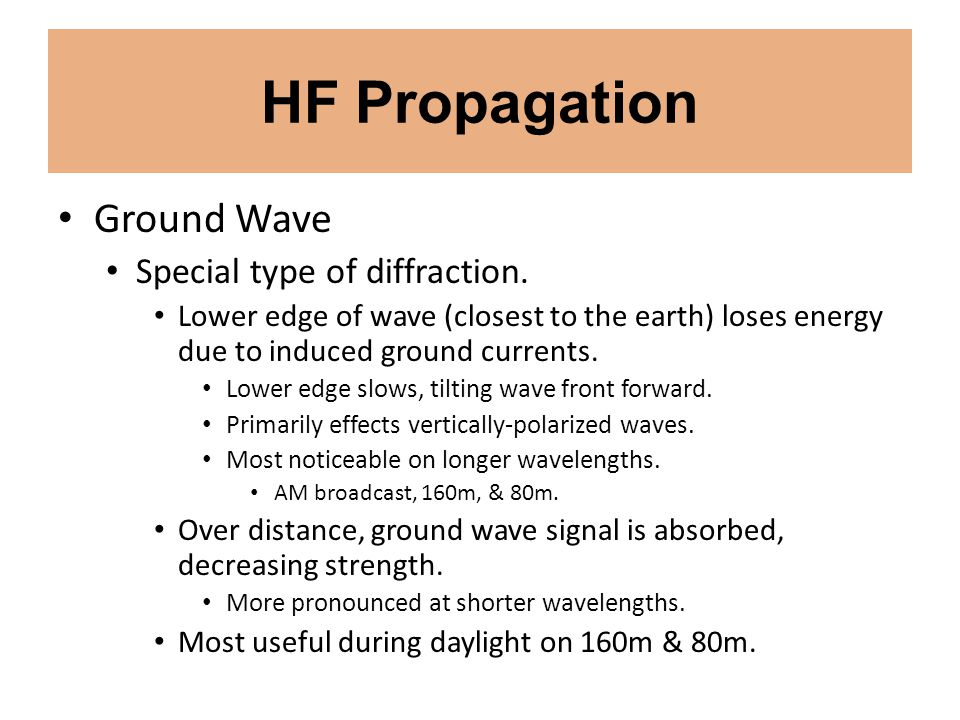 VHF/UHF/Microwave Propagation Transequatorial Propagation Most prevalent around the spring & autumn equinoxes.