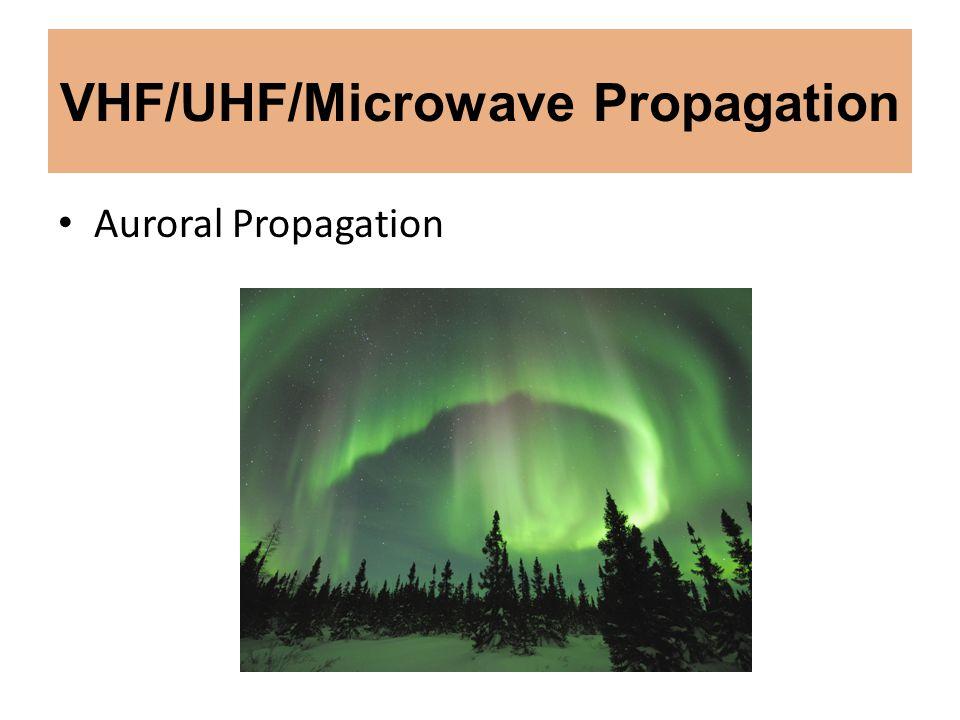 VHF/UHF/Microwave Propagation Auroral Propagation