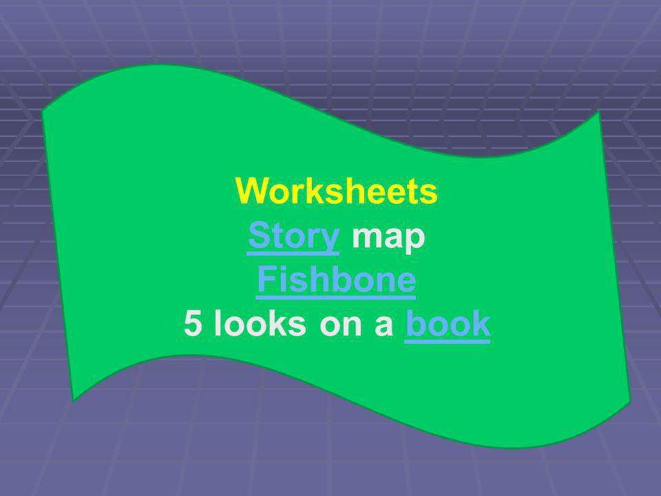 Worksheets StoryStory map Fishbone 5 looks on a bookbook