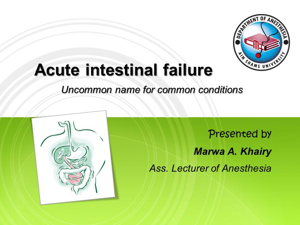 Type I Intestinal Failure