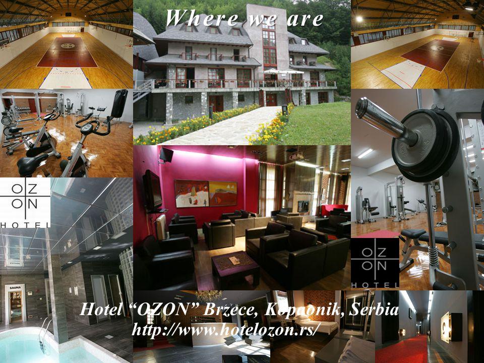 Where we are Hotel OZON Brzece, Kopaonik, Serbia http://www.hotelozon.rs/