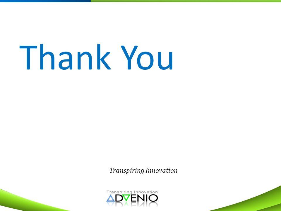 Transpiring Innovation Thank You