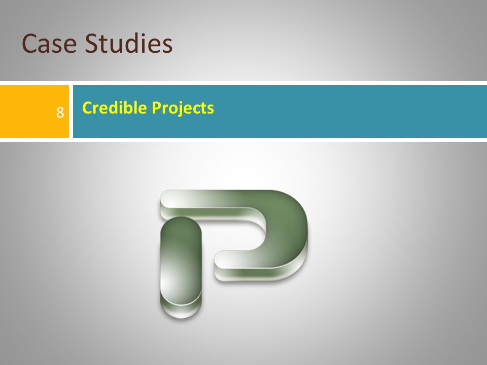 Credible Projects Case Studies 8