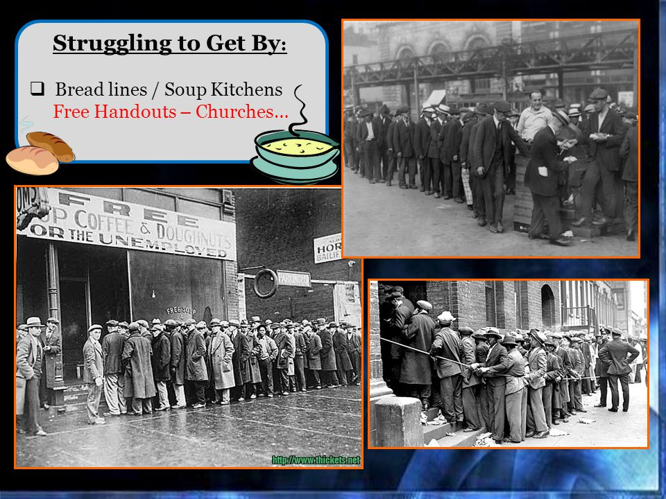 Struggling to Get By : Bread lines / Soup Kitchens Free Handouts – Churches…