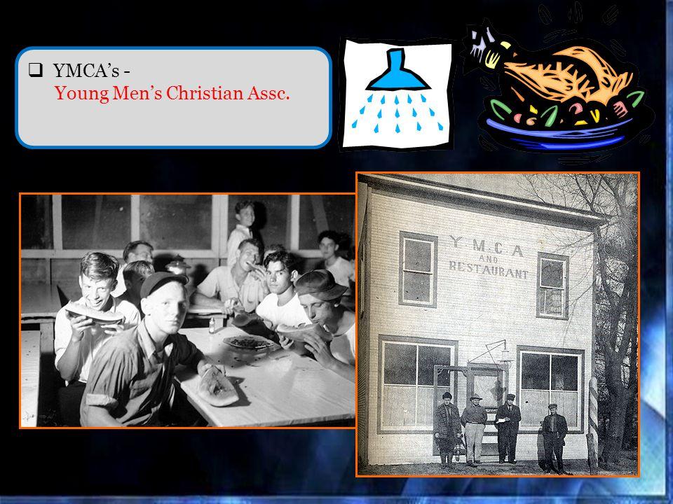 YMCAs - Young Mens Christian Assc.