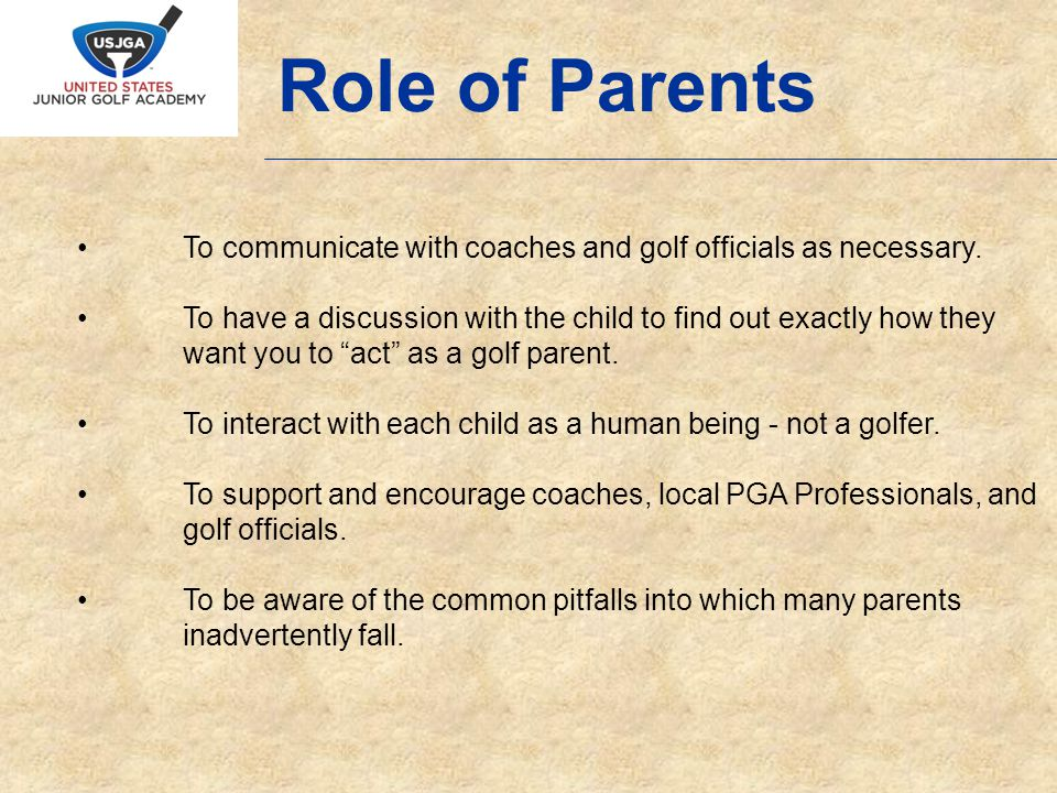 To communicate with coaches and golf officials as necessary.