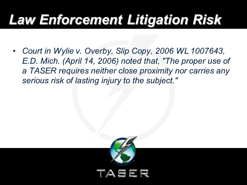 Law Enforcement Litigation Risk Court in Wylie v. Overby, Slip Copy, 2006 WL 1007643, E.D.