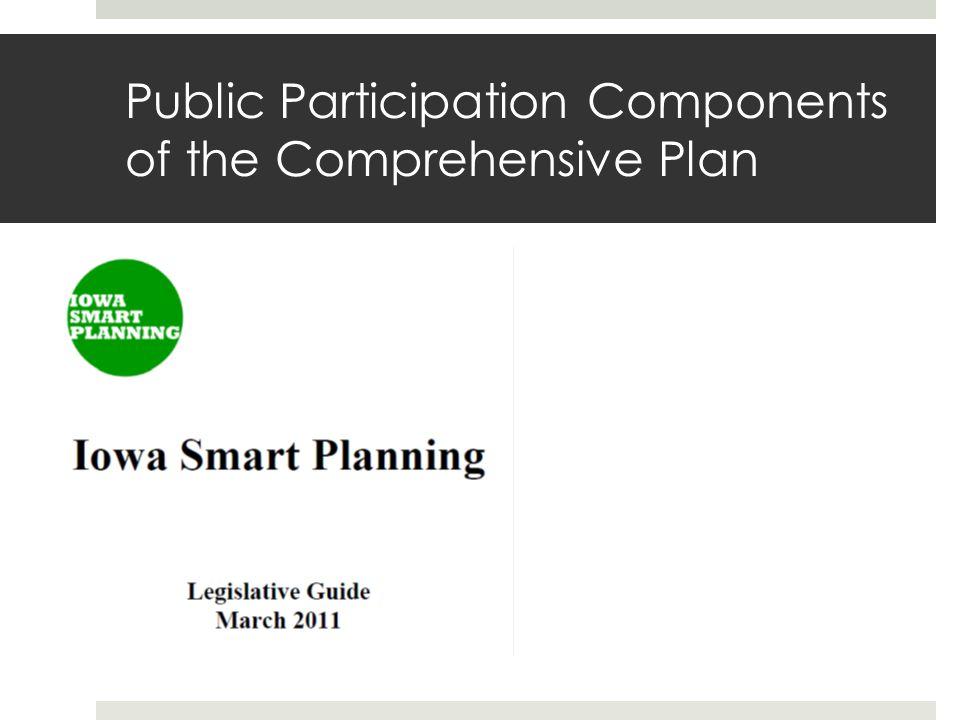 Public Participation Components of the Comprehensive Plan