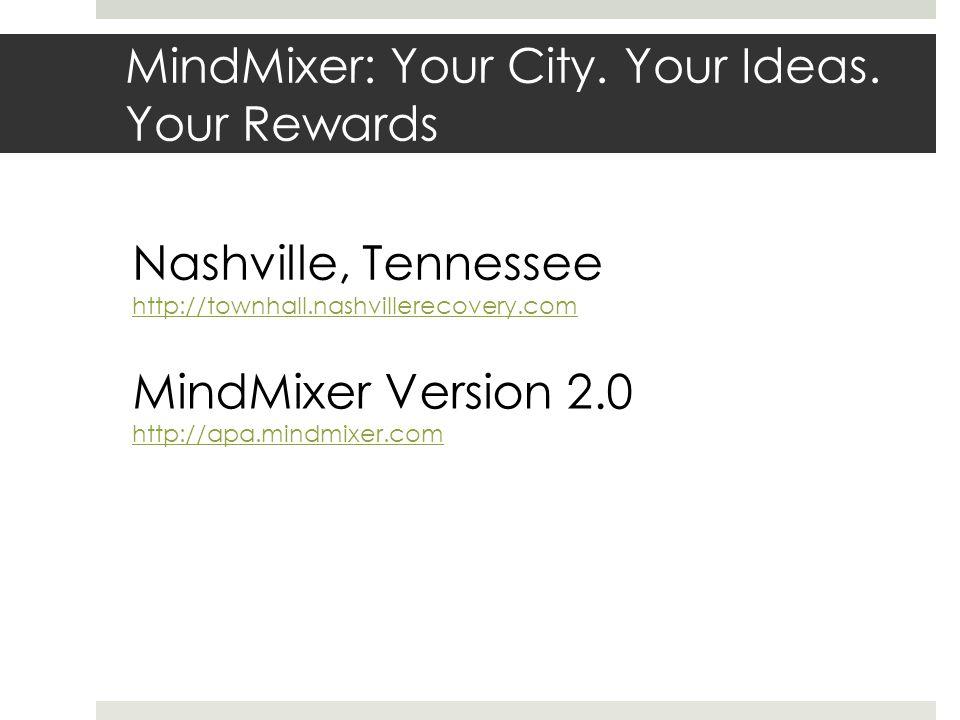MindMixer: Your City. Your Ideas.