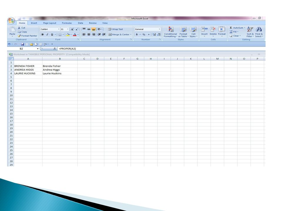 Another example of a pivot table