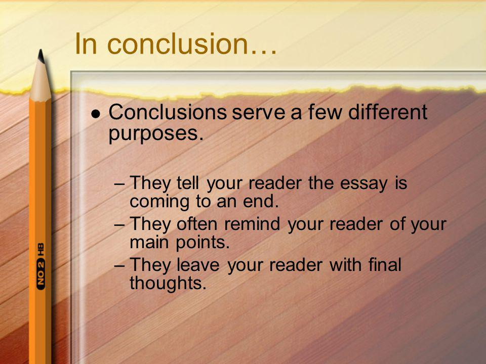 essay conclusion prediction
