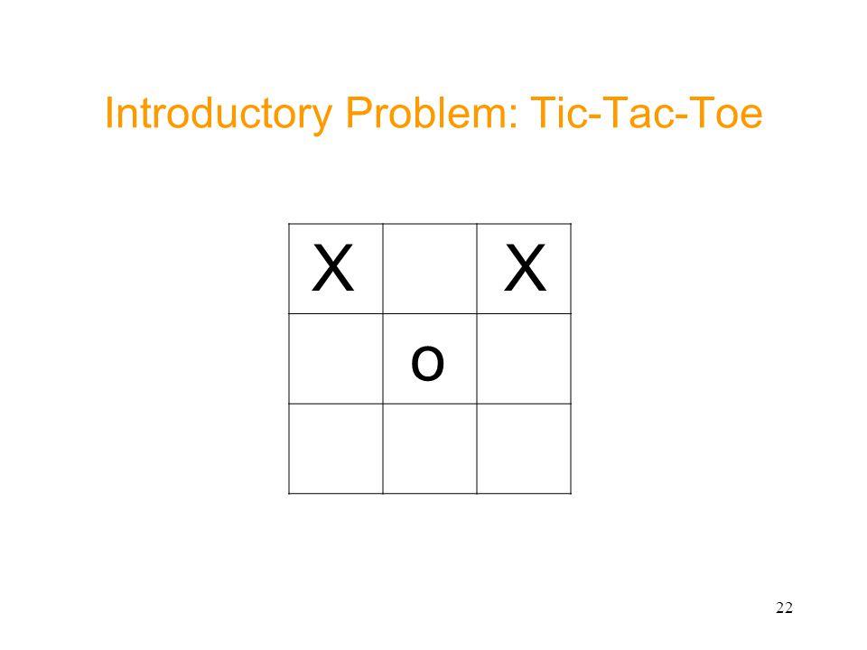 22 Introductory Problem: Tic-Tac-Toe X X o