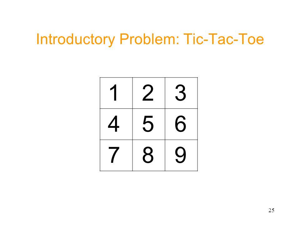 25 Introductory Problem: Tic-Tac-Toe 1 2 3 4 5 6 7 8 9