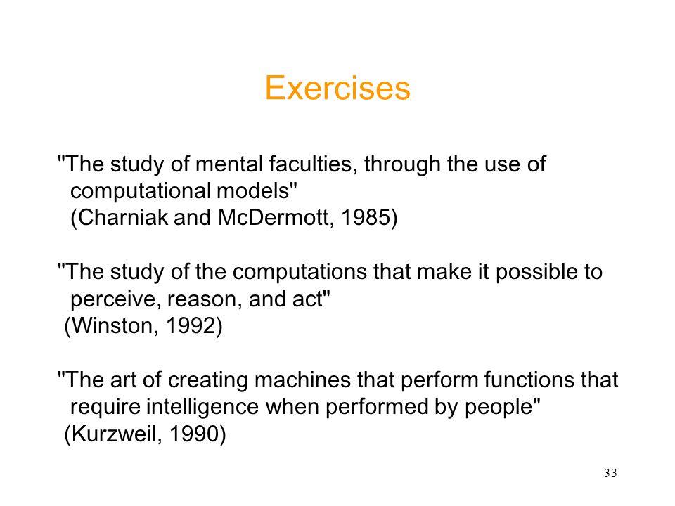 33 Exercises