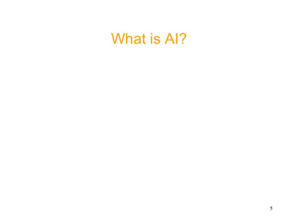5 What is AI?