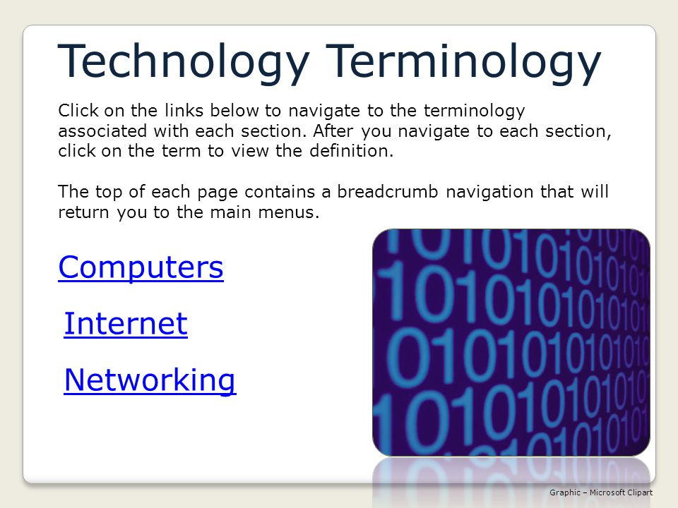 TerminologyTerminology >Networking >Transfer & BitsNetworking Bandwidth Literally the range of frequencies used by an electromagnetic signal; in common use, the amount of information that can be moved in a fixed amount of time over a transfer line.