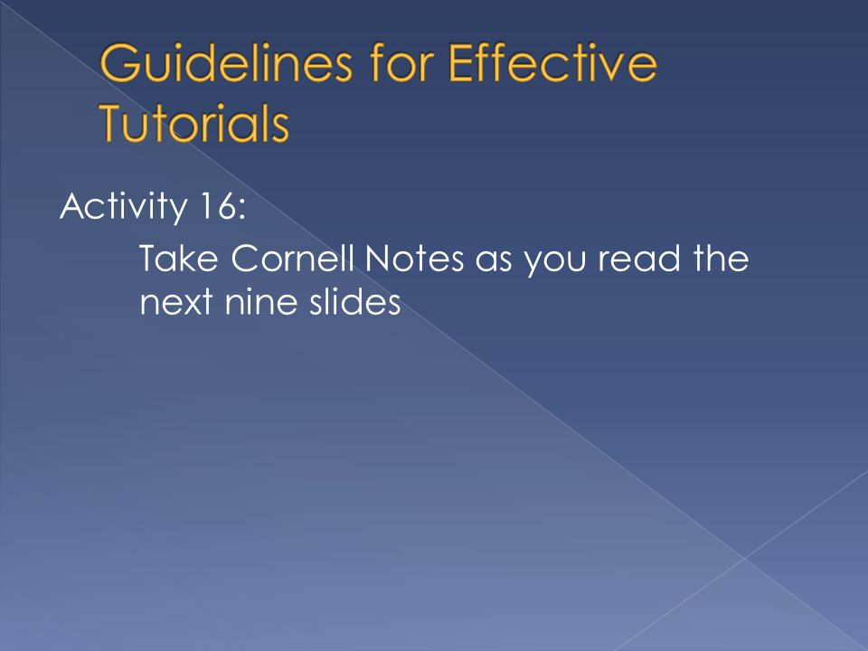 Activity 16: Take Cornell Notes as you read the next nine slides