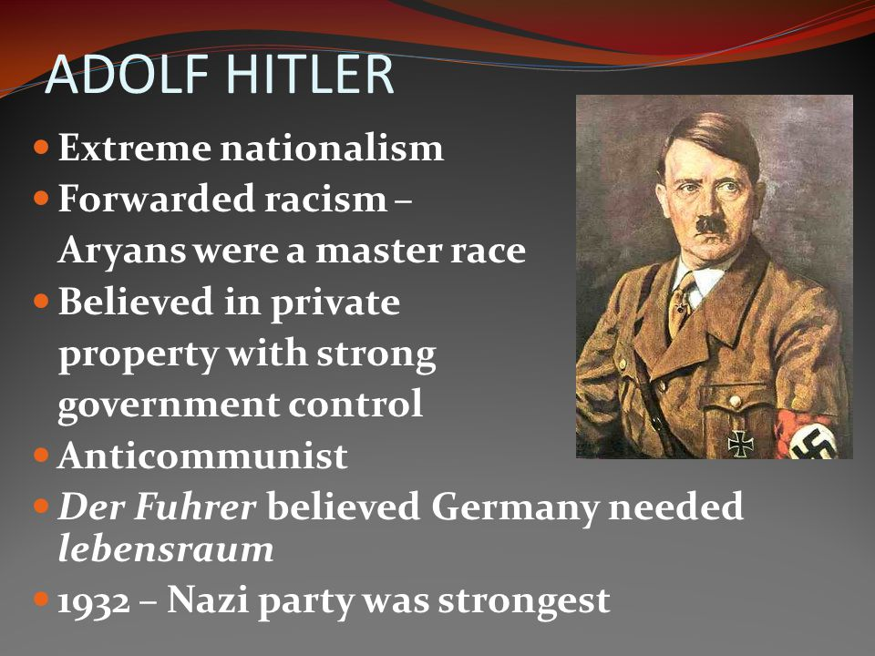 NAZISM A political party – Nazi Party. A form of Fascism In 1919 the Nazi party was small. Otherwise known as the National Socialist German Workers Pa