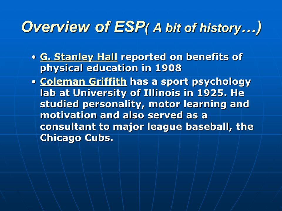 2 Major Professional Organizations 2 Major Professional Organizations APA Division 47 (Exercise & Sport Psychology) APA Division 47 (Exercise & Sport Psychology) [N=910, 2006] [N=910, 2006] AASP AASP Association for Applied Sport Psychology Association for Applied Sport Psychology [N=1236, 2006] [N=1236, 2006]