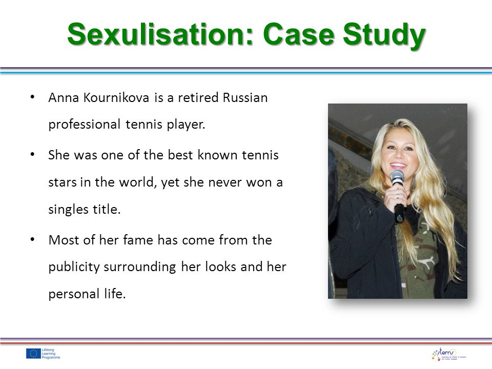 Anna Kournikova is a retired Russian professional tennis player. She was one of the best known tennis stars in the world, yet she never won a singles