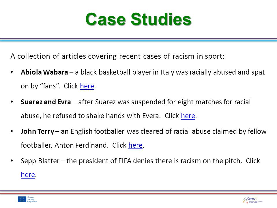 A collection of articles covering recent cases of racism in sport: Abiola Wabara – a black basketball player in Italy was racially abused and spat on