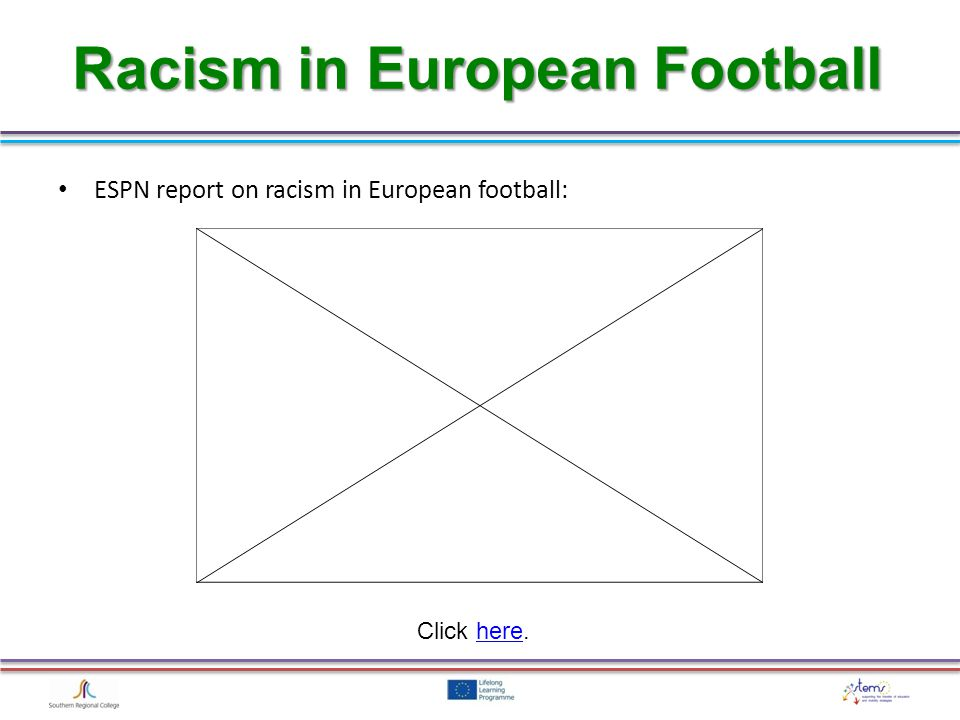 Racism in European Football ESPN report on racism in European football: Click here.here
