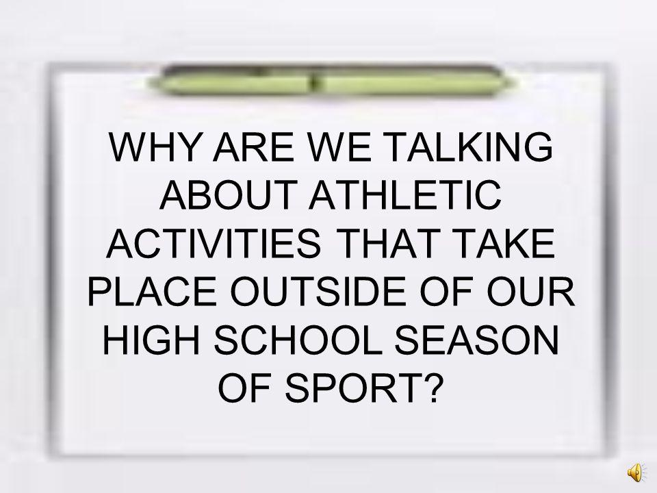 IN ORDER TO AVOID A NEGATIVE IMPACT ON HIGH SCHOOL STUDENTS ELIGIBILITY, students and families should make sure that any outside organizations sports activity in which they choose to compete during the school year is not run in violation of any CIF or CCS rules and regulations: Below are some issues to consider.