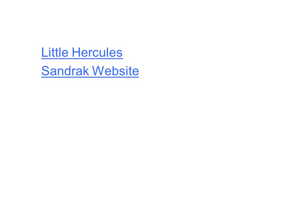 Little Hercules Sandrak Website