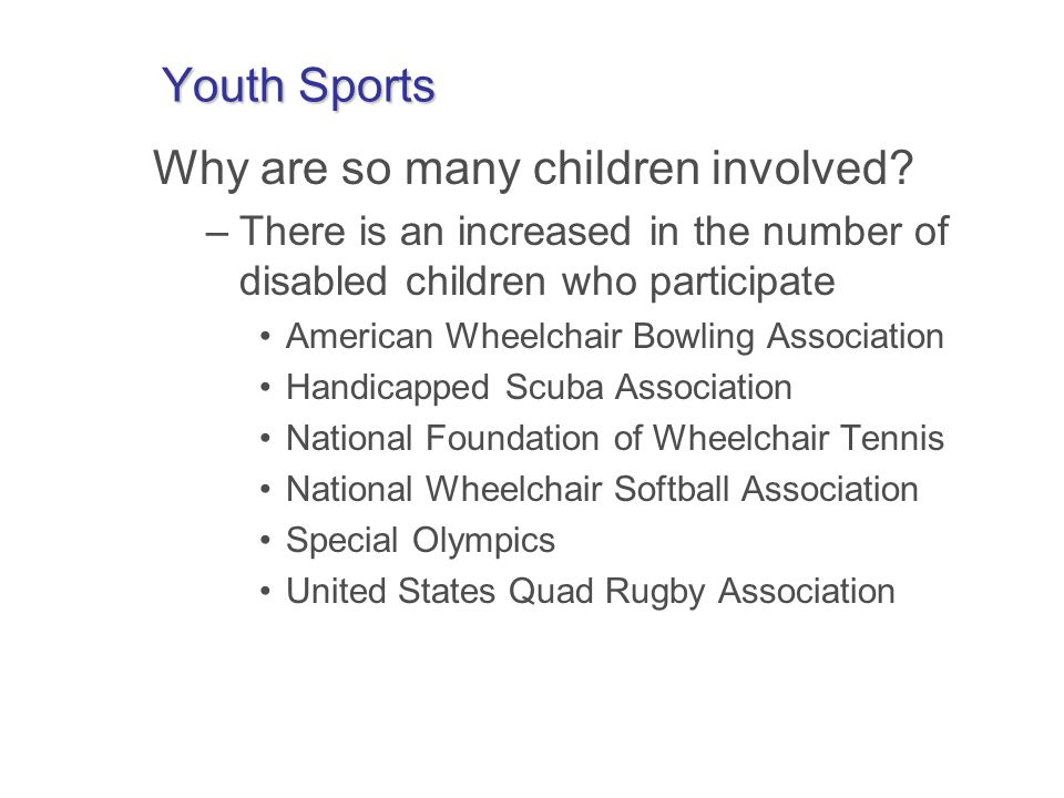 Sport Participation: Controversies ~ Avoidable.