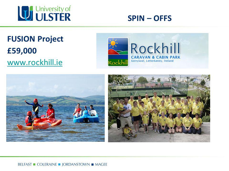 SPIN – OFFS FUSION Project £59,000 www.rockhill.ie
