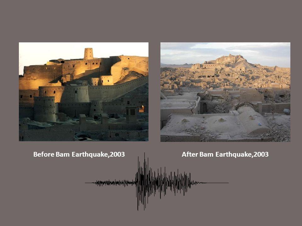 Before Bam Earthquake,2003After Bam Earthquake,2003