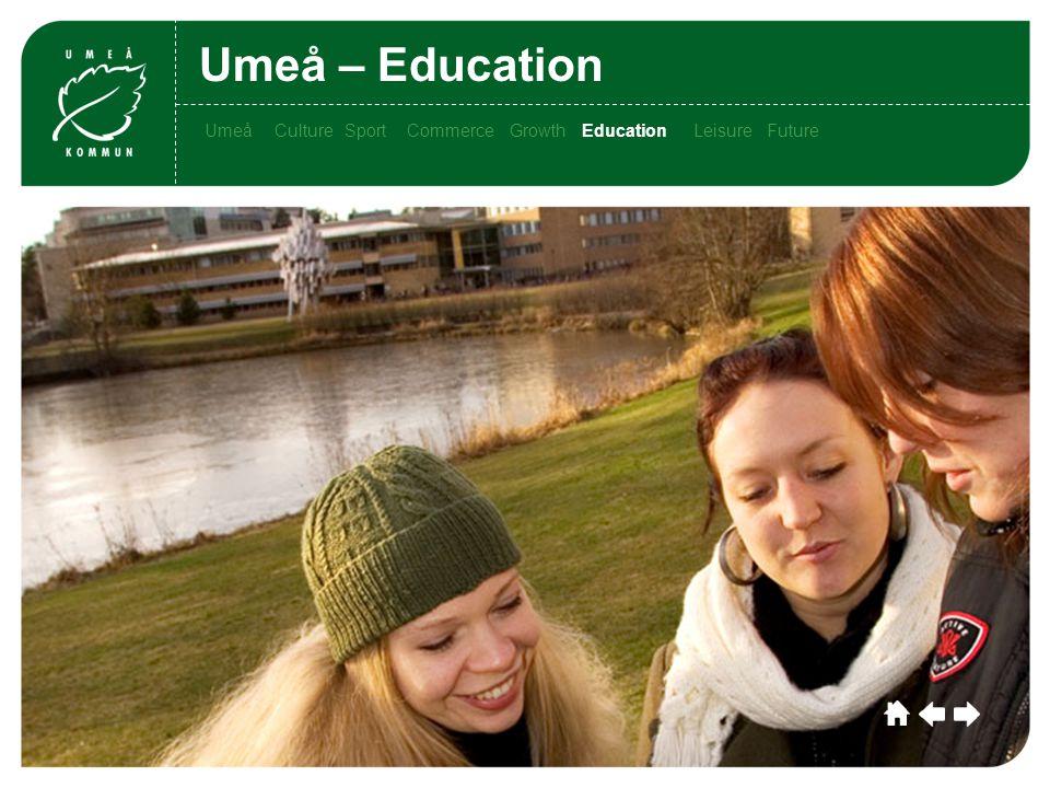 Umeå CultureSportCommerceGrowthEducationLeisu re Future Umeå Culture SportCommerce Growth EducationLeisure Future Umeå – Education CultureSportCommerceGrowthEducationLeisure Future EducationUmeå