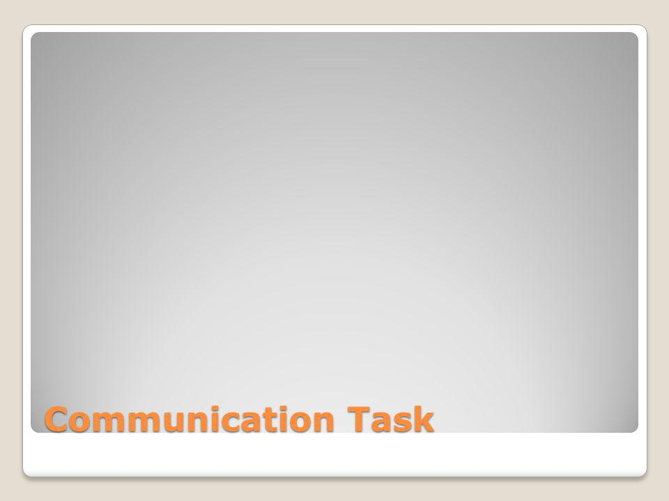 Communication Task