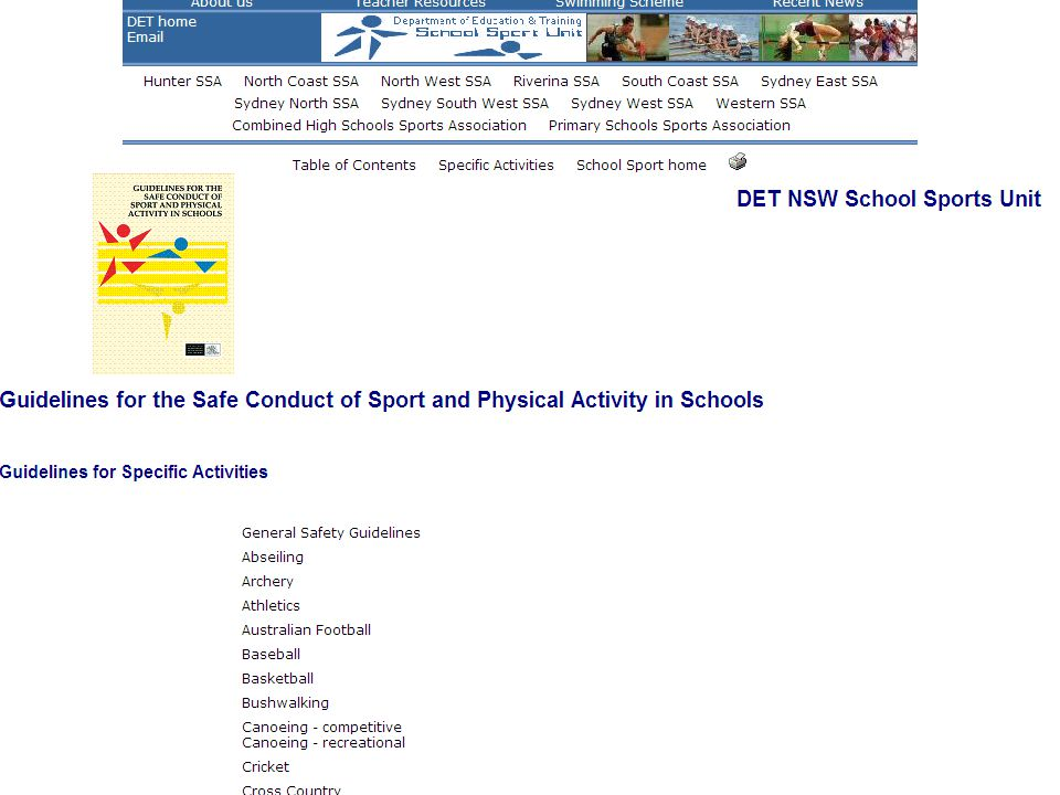 Risk Assessments and School Sport