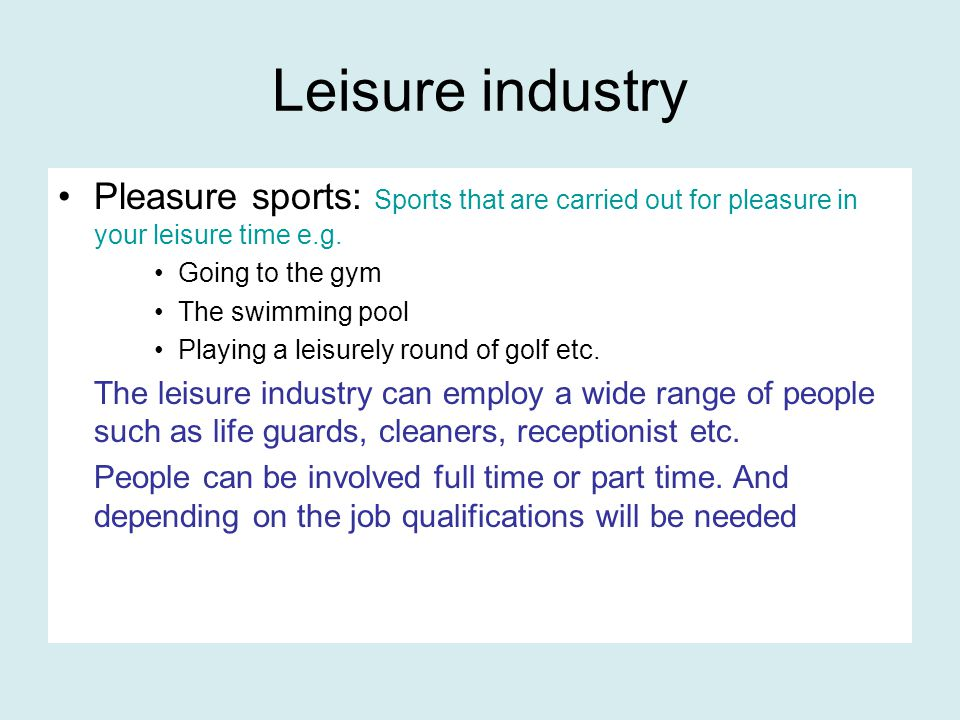 PE TEACHERS PE/Sport Studies teachers have a large part to play in involving people in sport.