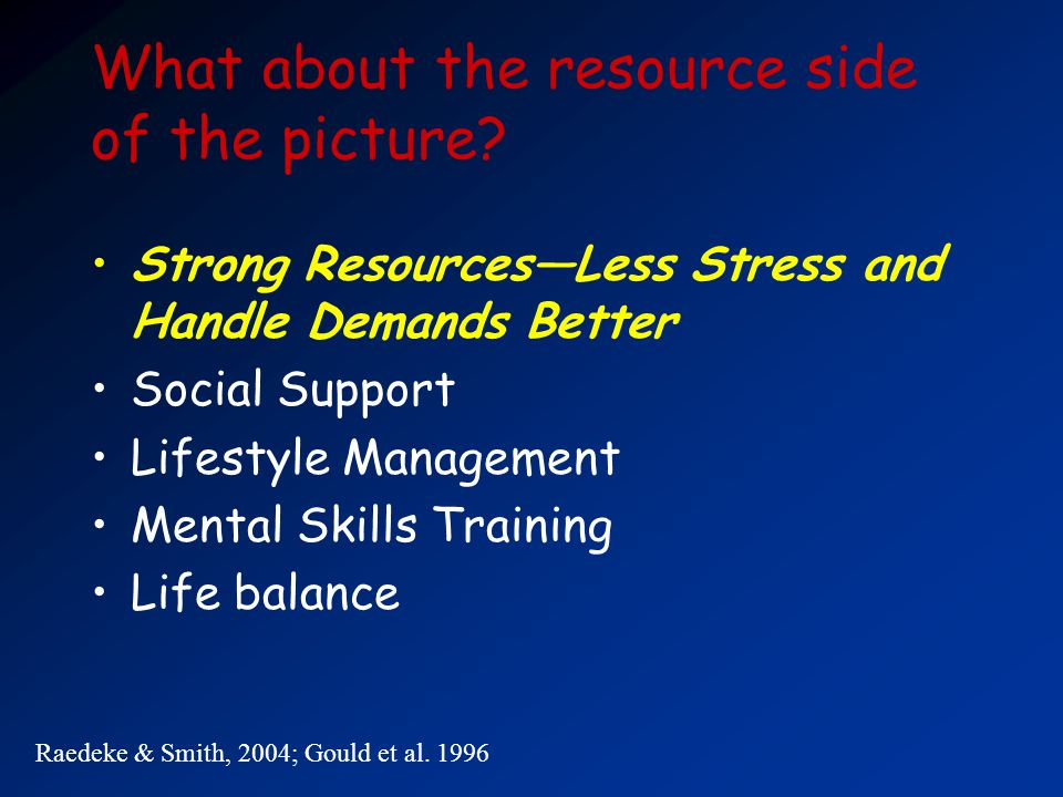 What about the resource side of the picture.