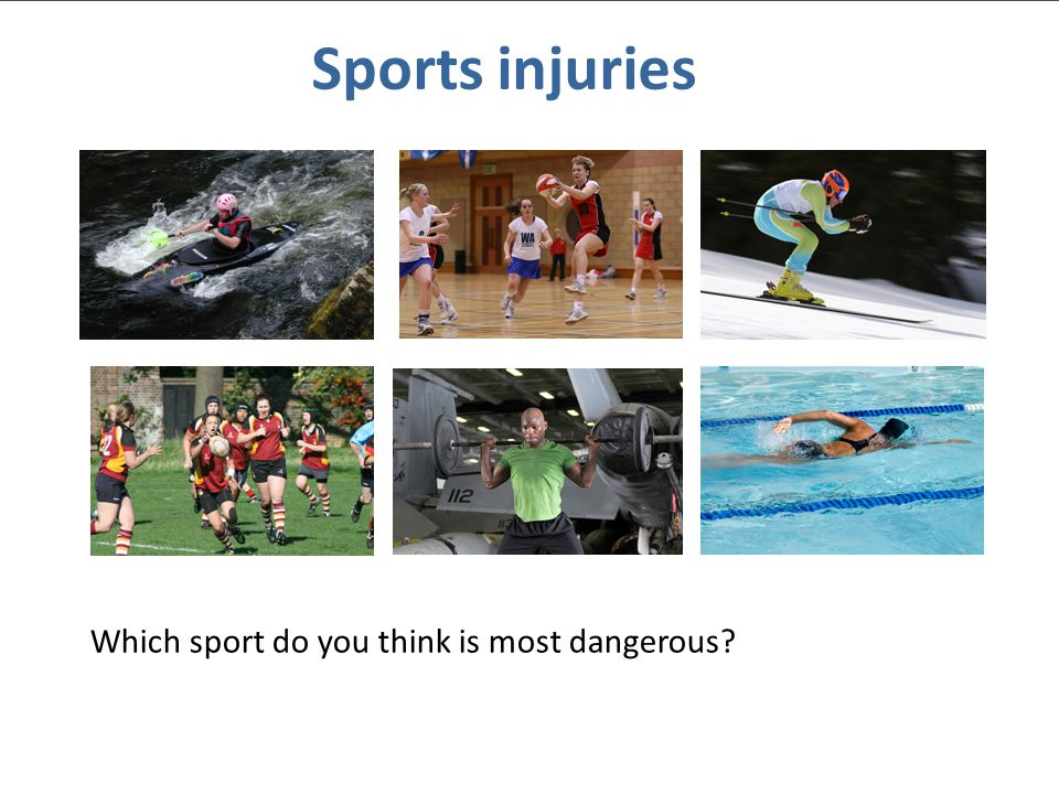 © Nuffield Foundation 2010 Sports injuries Which sport do you think is most dangerous?