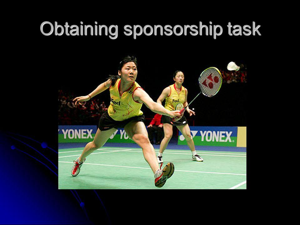Obtaining sponsorship task