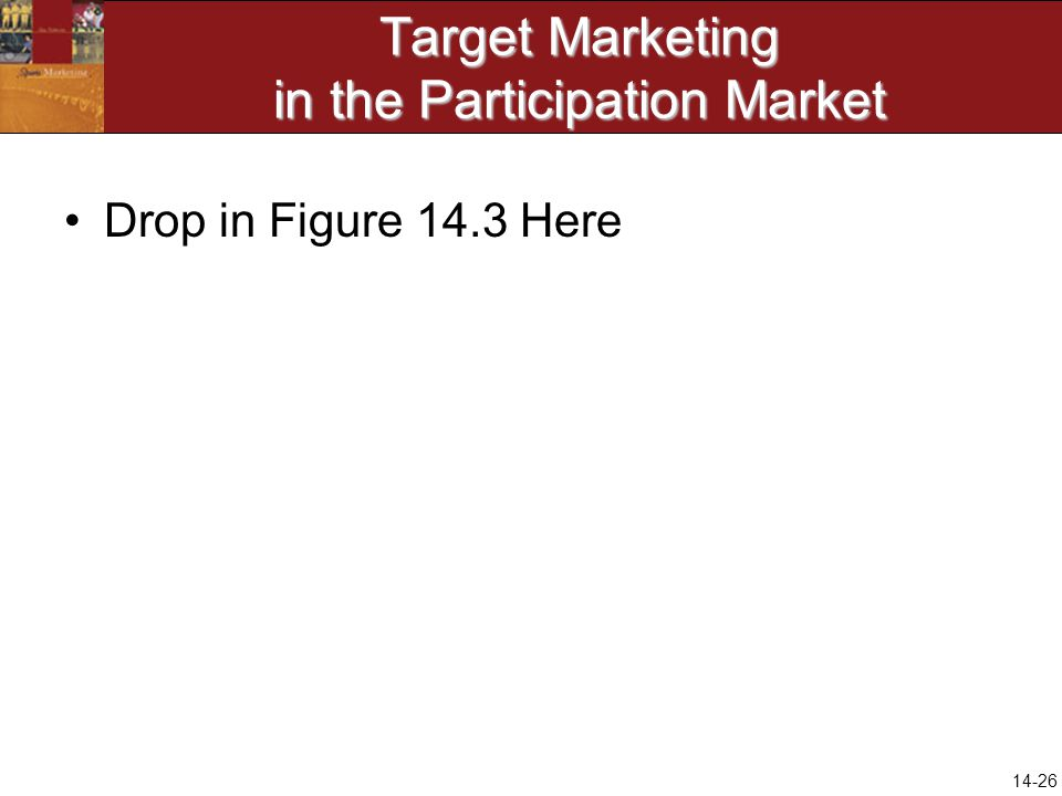 14-26 Target Marketing in the Participation Market Drop in Figure 14.3 Here